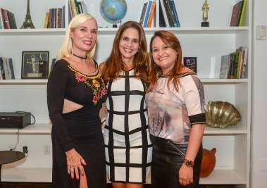 Claudia Del Rey, Isabela de Paula e Loise Chamusca no Amado