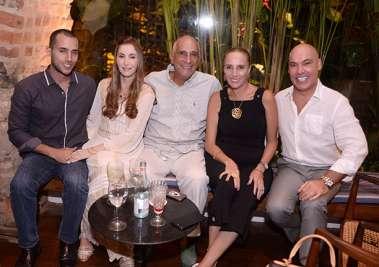 Leandro Leony,Dalua Cunha, Ticiano Leony e Eugênia, e Marcelo Surerus no rest. Amado