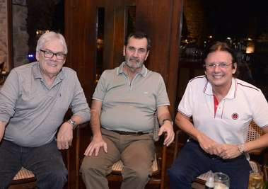 Rafael Amoedo, Antonio da Costa Andrade e Guto Amoedo no Rest. Amado