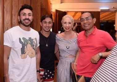 França e Tamyr Mota, Lia Ferreira e Bartô no Soho
