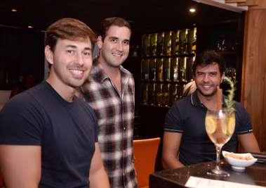 Leandro Lacerda, Rafael Freire e Eduardo Marcelino no Soho