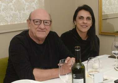 Frank Gomes e Valéria optaram por janta com o filho Frank no restaurante francês Chez Bernard
