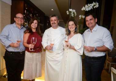 Chez Bernard(Restaurante) e a vinícola Ventisquero realizaram jantar harmonizado ontem dia 09,às 20h