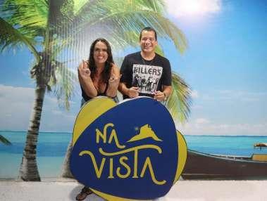 O cantor baiano Durval Lelys em Vitória do E.Santo com a famosa capixaba Lilian Moussallem a dona do espaço mais querido e mais bonidto de Vitória